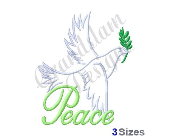 Peace Dove Outline - Machine Embroidery Design