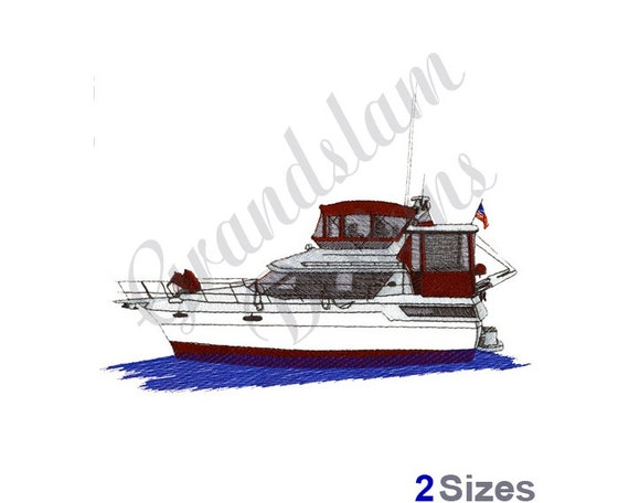 yacht boat machine embroidery design etsy