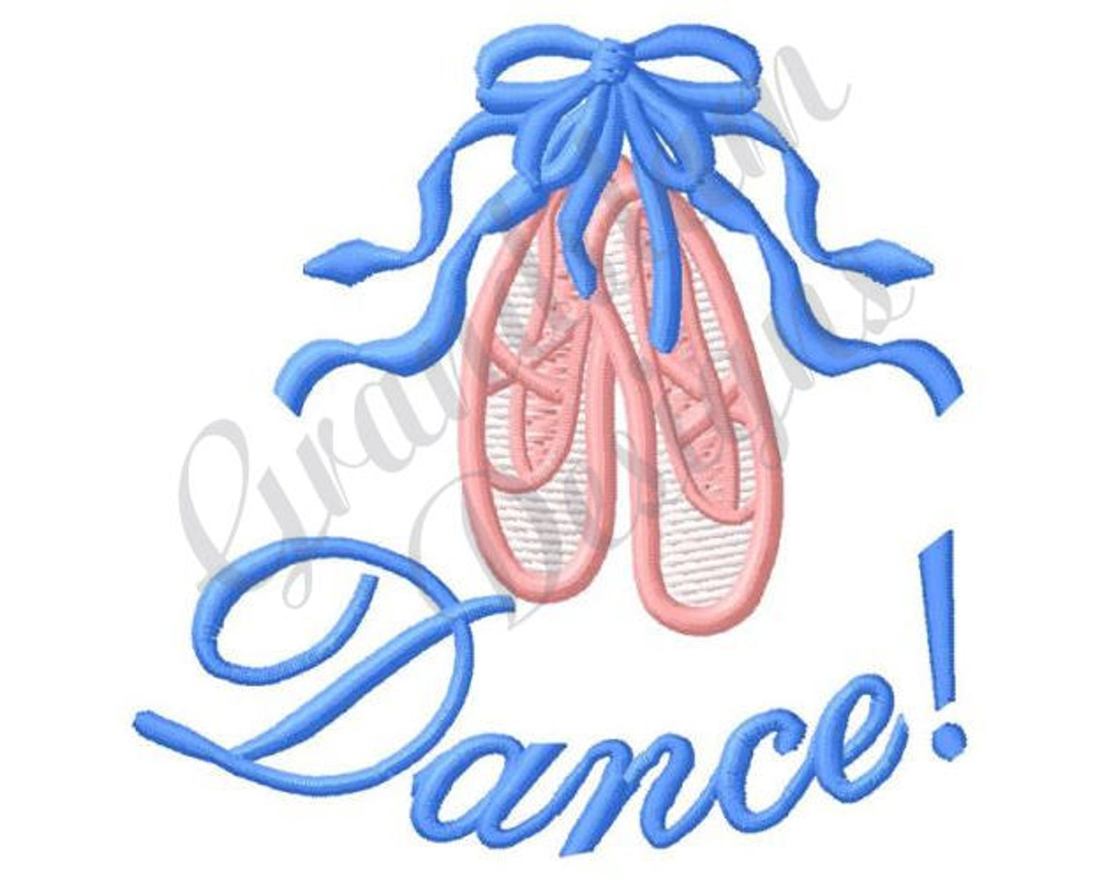 dance ballet slippers - machine embroidery design
