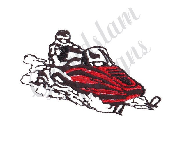 Snowmobile - Machine Embroidery Design, used for sale