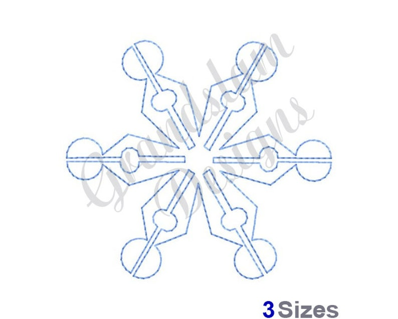 Stipple Snowflake Machine Embroidery Design Embroidery