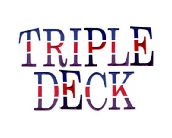 Dreifach-Deck Schrift Maschine Stickmuster