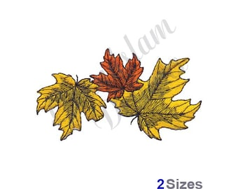 Fall Colors - Maple Leaves - Machine Embroidery Design