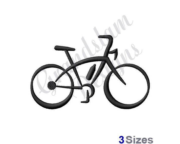 Abstract Bicycle Machine Embroidery Design Etsy