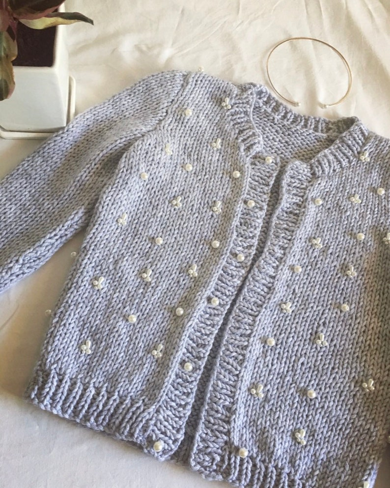 warm, cozy handmade knitted beaded with pearls sweater cardigan Grey handmade knitted sweater women/'s sweater cute universal size