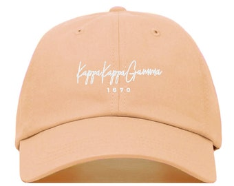 267c659b Kappa Kappa Gamma Signature Baseball Hat - Embroidered Baseball Cap //  Sorority Greek Big Little Sister Gift