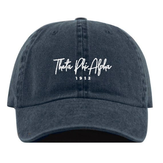 Theta Phi Alpha Signature Baseball Hat Embroidered Baseball  95e5dc244a78