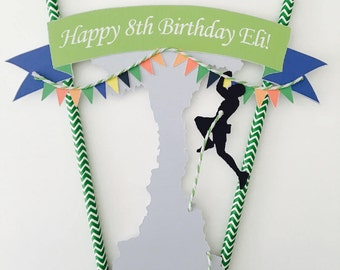 Personalised Rock Climbing Cake Topper