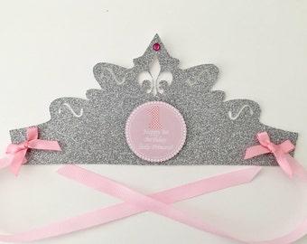 Personalised Princess Birthday Tiara/ Princess Birthday/ Princess Party/ Princess Tiara