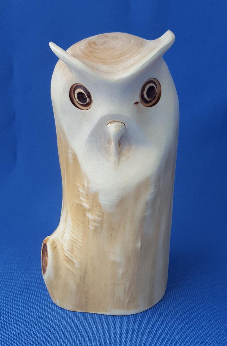 Schöne EULE Holz Handarbeit Tier Greif Vogel Eule16