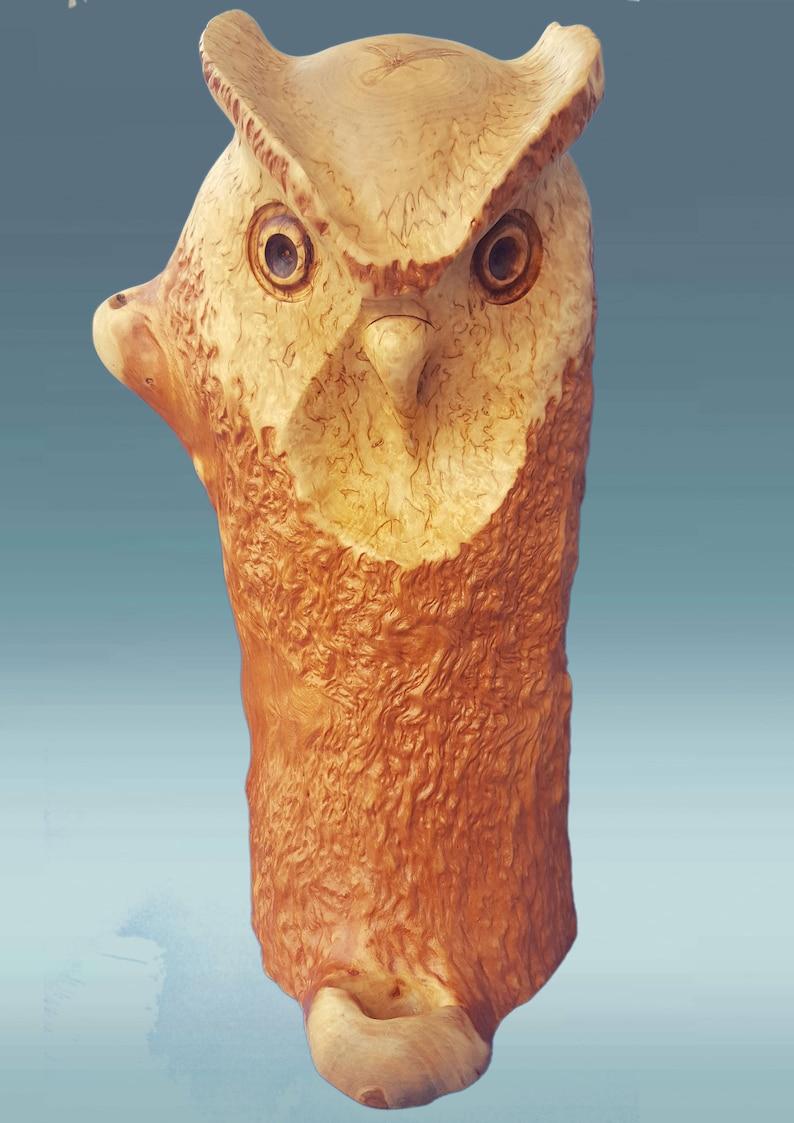 Eule Statuen Hölzerne Eule Holz Geschnitzte Eule Etsy