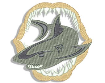 Shark Embroidery design - Jaws - Machine embroidery design