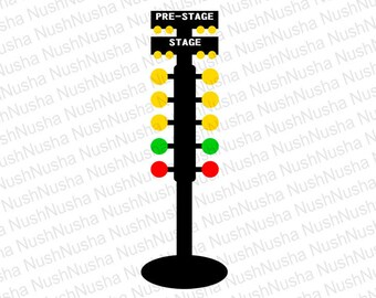 Drag Racing Christmas Tree SVG, DXF, PNG, eps, cdr, Vector, Digital Cut File