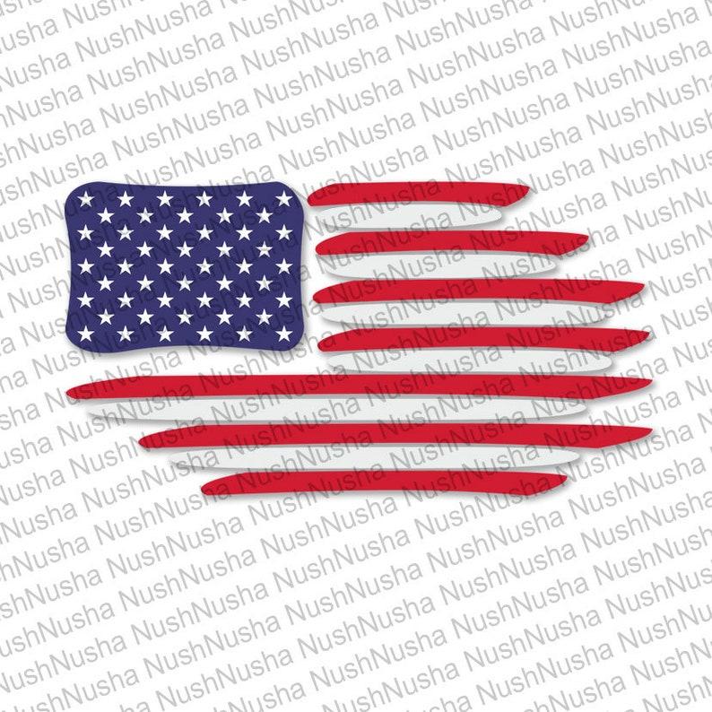 American Flag Svg Dxf Png Eps Cdr Vector Digital Cut Etsy