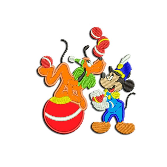 Mickey Mouse Embroidery Design Pluto Machine Embroidery Etsy