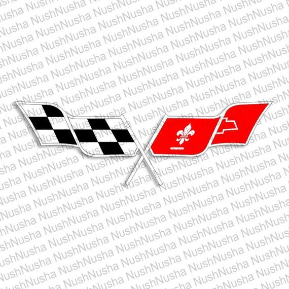 corvette logo svg dxf png eps cdr vector digital cut etsy