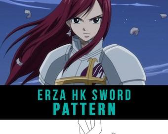Erza Scarlet Heaven S Wheel Sword Cosplay Pdf Vector Etsy