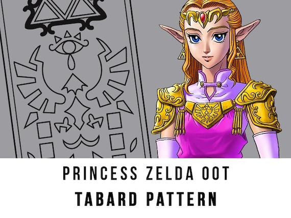 Princess Zelda Tabard Cosplay Pdf Vector Pattern The Legend Of Zelda Ocarina Of Time Game