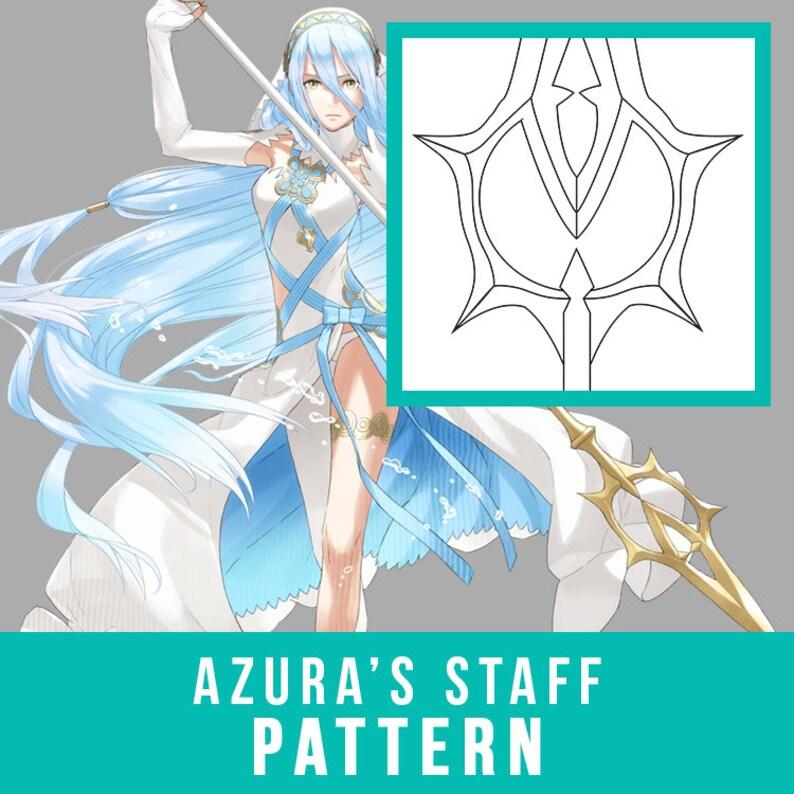 Azura Staff Cosplay Pdf Vector Pattern Fire Emblem Fates Etsy