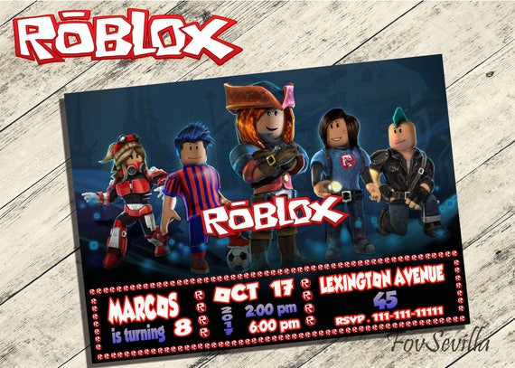 Roblox Invitationroblox Birthday