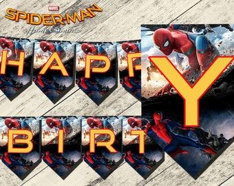 siderman homecoming banner,spiderman homecoming birthday banner,spiderman homecoming birthday party,spiderman banner,spiderman homecoming