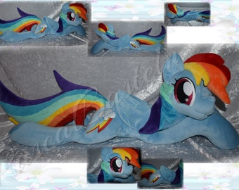 My Little Pony Rainbow Dash 80 Cm Long With Tail And 32 High Mane