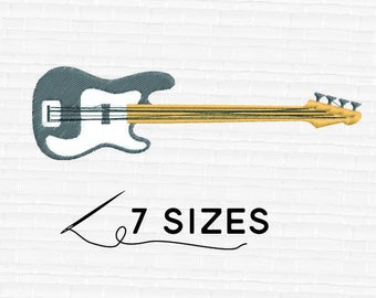 SALE! Guitar 7 sizes  Embroidery files