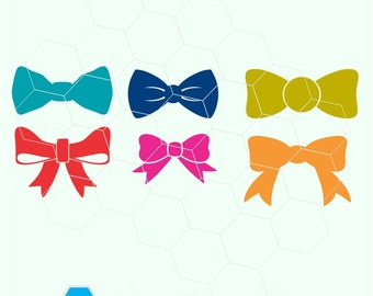bows, bow  in  svg, dxf, png,format. Instant download