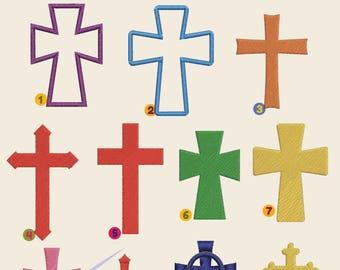 SALE! Crosses, cross Embroidery files