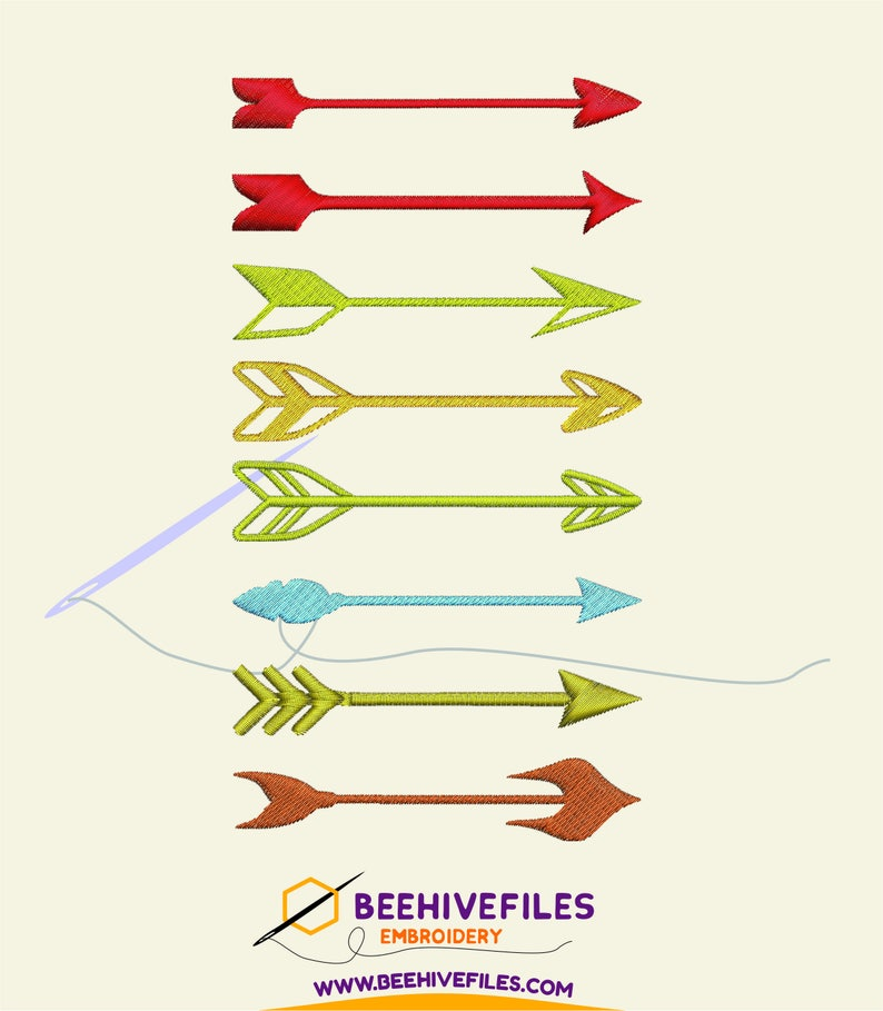 SALE 8 arrows Embroidery files image 0