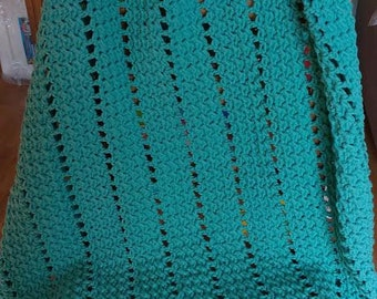 Eyelets and Textures Blanket (The Kelsey)