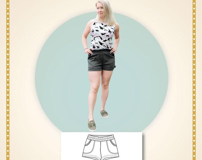 Rock rose shorts Paper printed