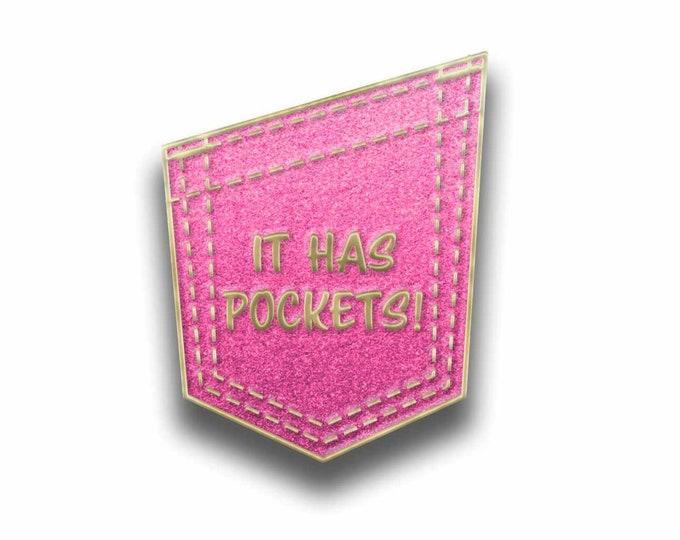 Enamel pin - It has pockets!