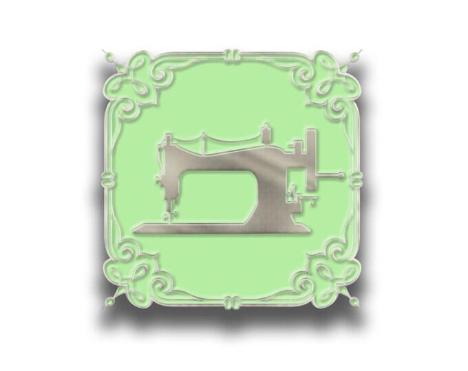 Enamel pin - Sewingmachine
