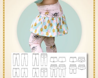 Play with me leggings Paper printed pattern