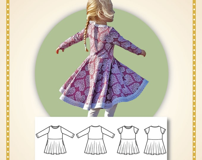 Primrose dress Printed paper pattern