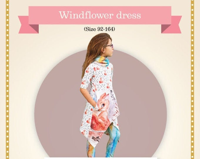 Windflower dress kids Printed sewing pattern