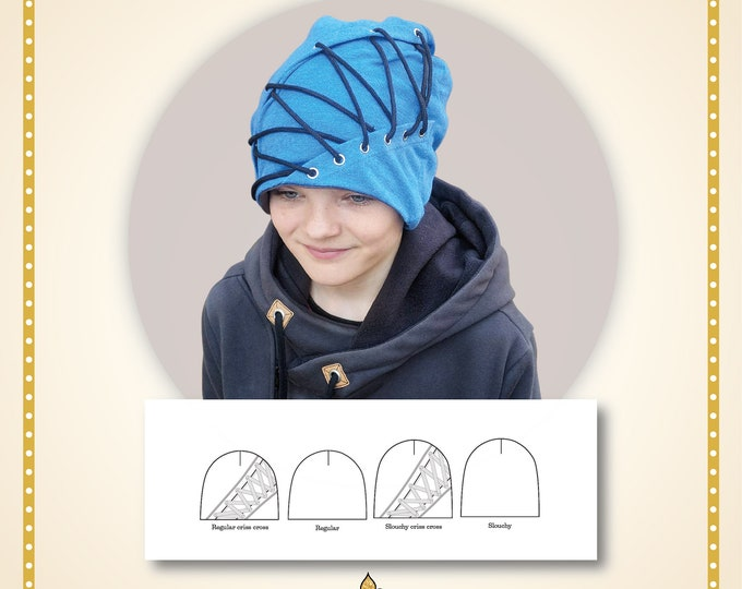Criss cross beanie Printed pattern