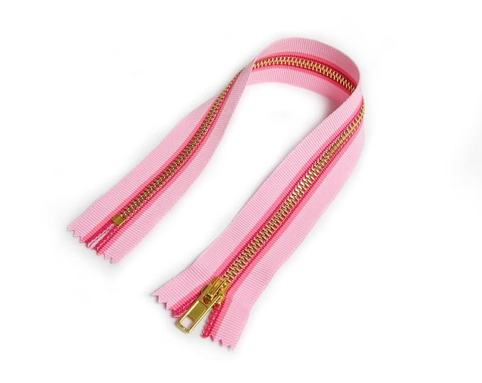 Zipper closed end for Biker coveralls pink