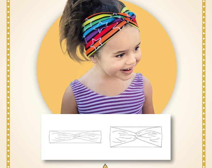 Faux twist knot headband Printed pattern