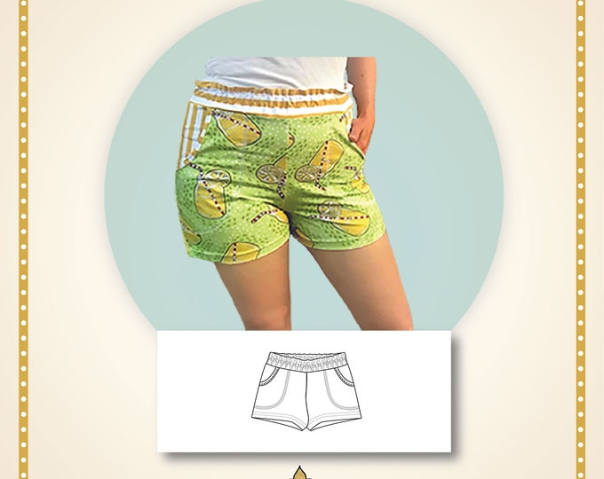 Rock rose shorts Paper printed