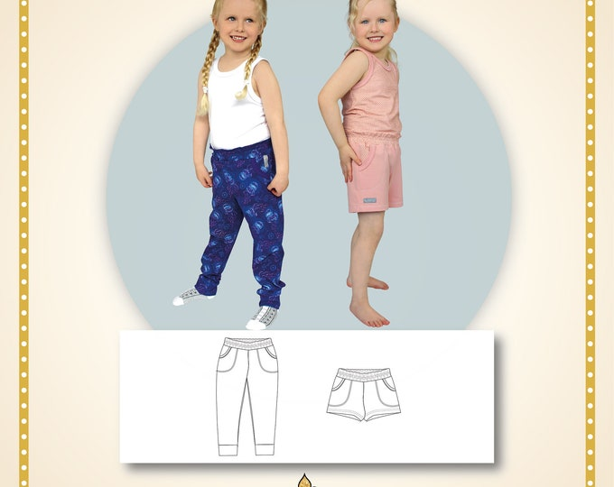 Rock rose pants and shorts Printed pattern