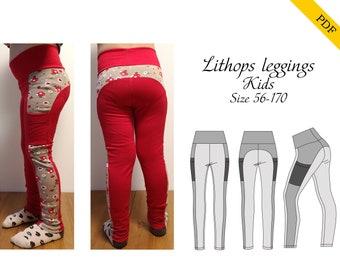 Lithops leggings kids Sewing pattern, PDF digital download