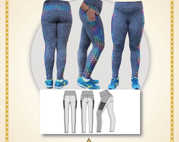 Lithops leggings woman Paper printed