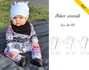 Biker Coverall 56-110 PDF sewing pattern, digital download, tutorial