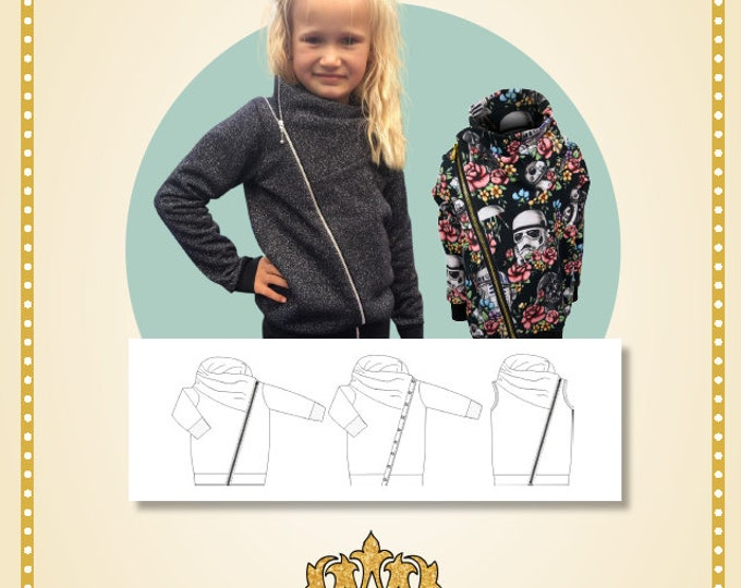 Biker jackets kids Printed pattern