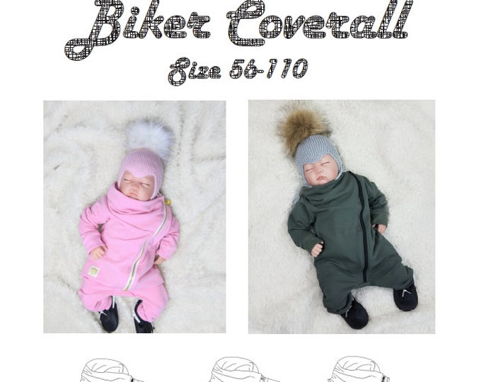 Biker coverall Printed pattern