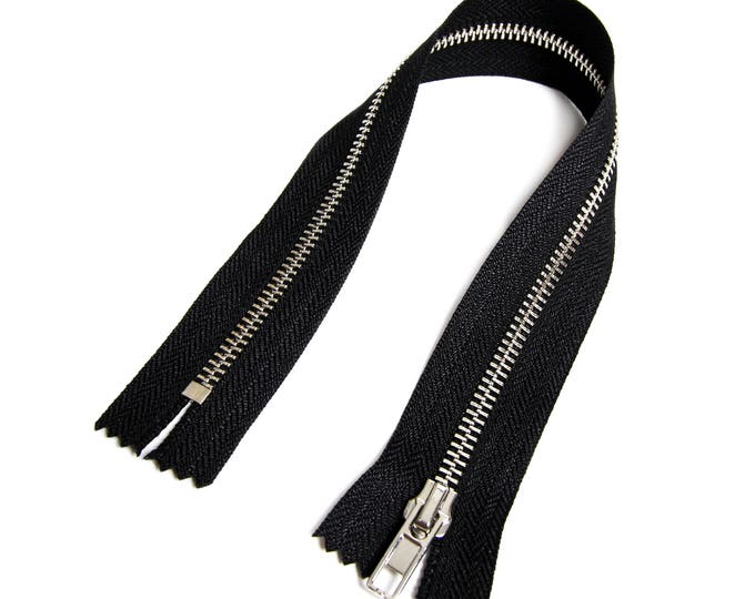 Zipper closed end for Biker coveralls black