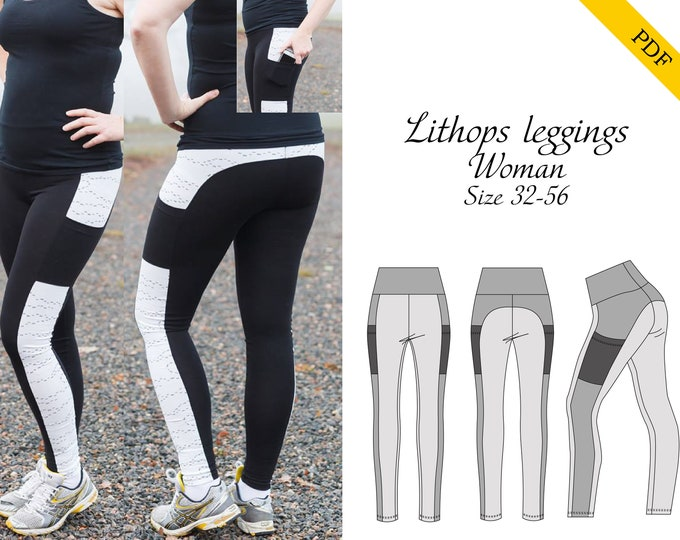 Lithops Leggings PDF sewing pattern, digital download