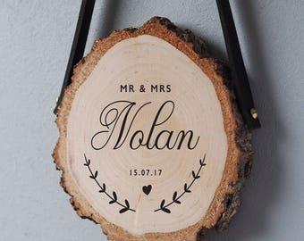 Wedding gifts for couple, wedding gift wood slice